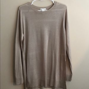 Taupe long sweater